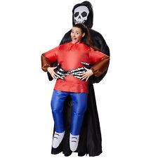 Selbstaufblasbares Unisex Kostüm Sensenmann Huckepack  Fasching Karneval