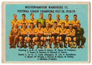 A&BC - 'Footballers (1959/60 - Series 1)' #49 - Checklist (Wolves Team Picture)