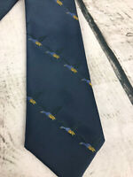 Vintage Prince Consort Schreter Button-down Tie Blue With Ducks Polyester 3X55""
