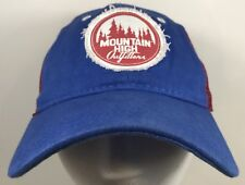 Mountain High Outfitters Hat Blue Red Trucker Cap Outdoor Patch Logo  SnapBack aab6470d418a