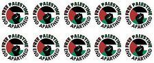 More details for x10 40mm vinyl stickers free palestine end apartheid laptop car gaza conflict