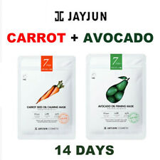 [JAYJUN ] Carrot Seed Oil Calming +Avocado Oil Firming Mask 7 Days × 2 =14days