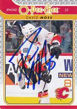 DAVID MOSS FLAMES AUTOGRAPH AUTO 09/10 O-PEE-CHEE OPC #22 *10666
