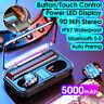 TWS Écouteur bluetooth 5.0 Sans Fil Stéréo 9D IPX7 LED 5000mAh pour IOS Android
