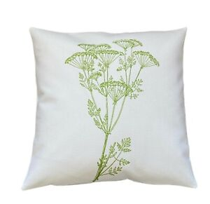 *SALE* Wild flower - 40cm Ivory cushion cover botanical/kitchen/French country
