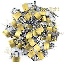 "36 pack Lot 1"" Inch Key Padlock Mini Tiny Small Brass Lock Luggage Toolbox"