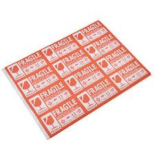 FRAGILE Etikett 50x Sticker Vorsicht Zerbrechlich Zeichen Kasten Box Aufkleber