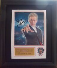 Peter Capaldi Doctor Who Preprinted Autograph Guitar Pick Display Mounted/Framed