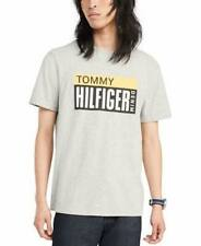 BNEW Tommy Hilfiger Denim Men's Terry Logo Graphic T-Shirt, Grey Heather, Small