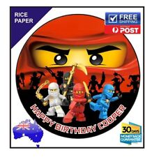 NINJAGO PERSONALISED Edible Rice Paper Image birthday party cake topper