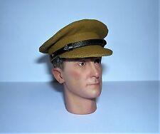 Banjoman 1:6 Scale Custom WW2 British Army Light Khaki Service Cap