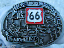 Route 66 belt buckle the mother road.