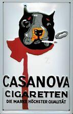 Casanova Cigaretten Segno Metallo Insegna 3D Rilievo ad Arco Targa 20x 30 CM