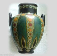Gouda art deco pottery vase Henley pattern  - Holland  ca 1923
