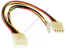 "Lot10 6"" 4 pin Molex Male~Floppy Drive & 4pin Female Power Y Splitter Cable/Cord"