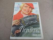 FOLLETO Nordland 1939/40 Cadenas para la nieve MAX MALA Dresden