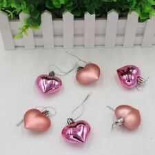 6x Heart Christmas Pendant Balls Xmas Tree Decor Party Wedding Home Hot Ornament