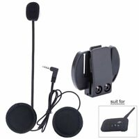 V6 V4 Motorcycle Helmet Headset Speaker Mic Bluetooth Handsfree Music Call+ Clip