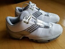 VINTAGE 2003 ADIDAS MENS SZ 10.5 BASKETBALL MID WHITE SILVER SHOES