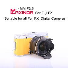 Kaxinda APSC 14mm f/3.5 manual focus lens for Fujifilm FX mount X-Pro2 E1 T10 T2