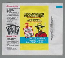 1973 O-Pee-Chee RCMP Royal Canadian Mounted Police Wrapper