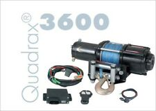 Quadrax 3600 Winch with 40' of 5.8mm synthetic rope 3600lbs  WIRELESS REMOTE