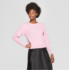 Women's Pleat Sleeve Pullover Sweater - A New Day - Pink - M - C37