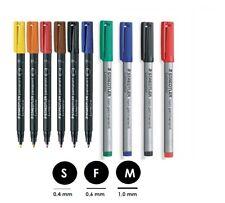 STAEDTLER Folienstift Lumocolor S F M  non-permanent und permanent Farbwahl