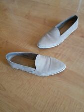 Coclico Women's Shoes Taupe Leather Espadrille Flats Size 37.5 US 7