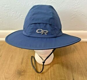 Outdoor Research Sombriolet Sun Hat Blue Adult Medium Boonie Bucket Fishing NEW