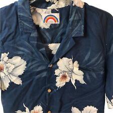 Vintage Hawaiian Shirt Made In Paradise Aloha Men's M USA Wood Buttons Floral