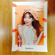 K-POP SNSD TAEYEON X BANILA CO. OFFICIAL RARE MODEL SIGNED POSTER