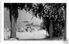 AK, Binz Rügen, Blick zu Strand und Seebrücke, 1957, Echtfoto