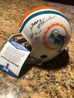Don Shula Signed Miami Dolphins Throwback Riddell TK Mini Helmet Beckett COA