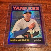 MARIANO RIVERA SP PURPLE REFRACTOR 2013 TOPPS HERITAGE NY YANKEES LEGEND #HOF