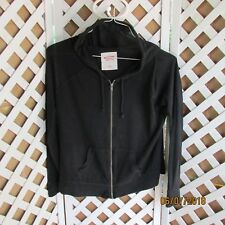 Mossimo Supply Ladies Black Hooded Lightweight Jacket Large