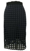 SEA NEW YORK NAVY CROCHET PENCIL SKIRT, 0, $265