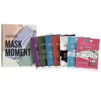 AHAVA Mask Moment Boxed Mask Set 7 Single Use Masks NEW in BOX Mud Cream Facial