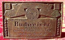 Budweiser Beer Label Belt Buckle