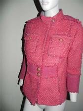 Tory Burch Tweed Military Russian Red Barley Melange Kington Wool Jacket 10