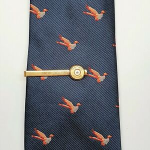 Bullet case brass tie slide/clip clip shawl clip crystals* boxed*