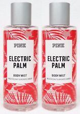 2 Victoria's Secret Pink ELECTRIC PALM Coconut Fragrance Mist Body Spray 8.4 oz