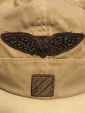 Mens Ralph Lauren Double RRL Military 5 Panel Hat Cap Fitted Large L PWing CP93