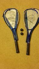 Par De Raquetas De Squash Dunlop Max Lite TI y 2 Pelotas De Squash Con Cubre.