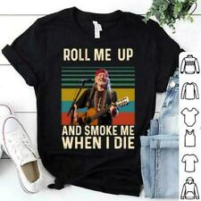 Vintage Willie Nelson Roll Me Up And Smoke Me When I Die T shirt