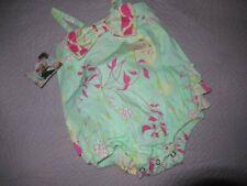 nwt Ruffle butts green pink ruffle bottom bubble sun romper baby girl 12 m 18 m