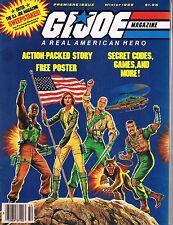 G.I. Joe Magazine #1 Premiere Issue Winter 1985 Poster Insert