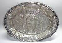 BEAUTIFUL Antique Sterling Silver Filigree Card Receiver Tray