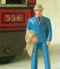Businessman/Passenger, O scale tinplate model train layout figure, Reproduction