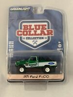 Low #149 GREENLIGHT GREEN MACHINE BLUE COLLAR SERIES 3 71 FORD F-100 Chase Rare